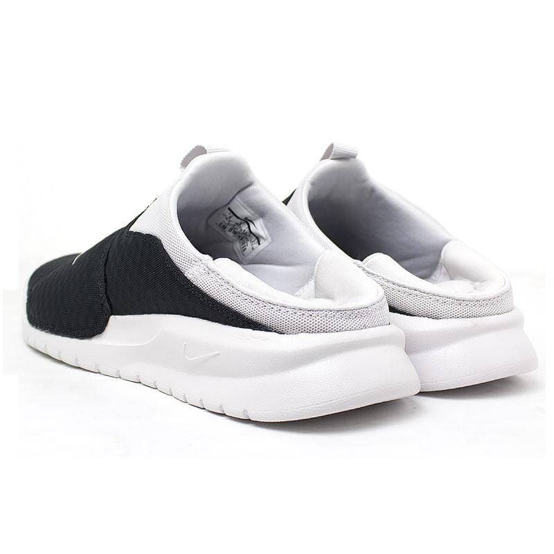Nike benassi slip on black white 3