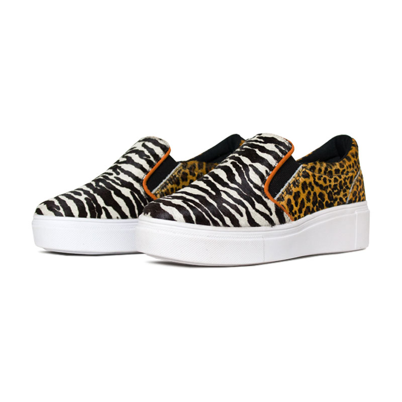 Slip on convexo mix animal print 1