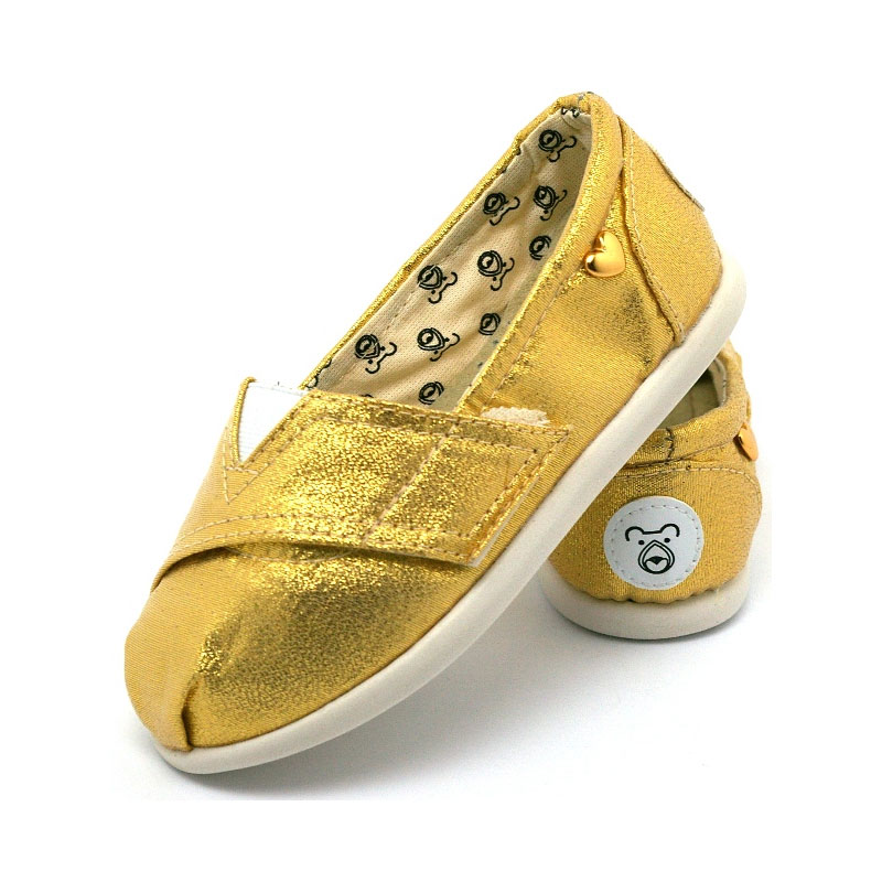 Alpargata perky baby golden 3