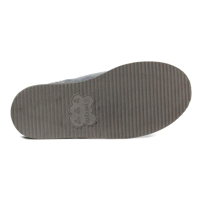Perky bow boot kids gray 1
