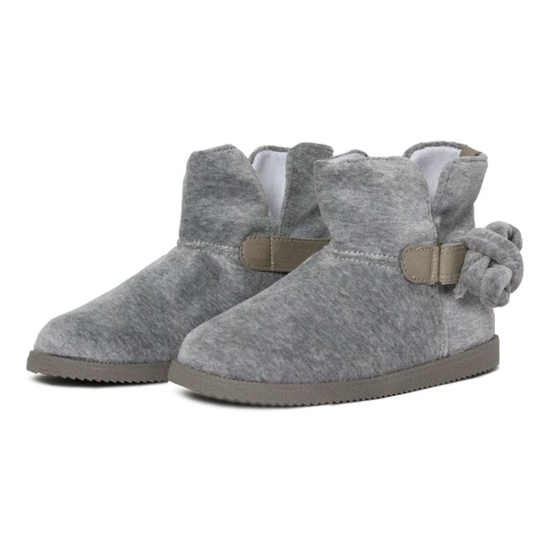 Perky bow boot kids gray 2