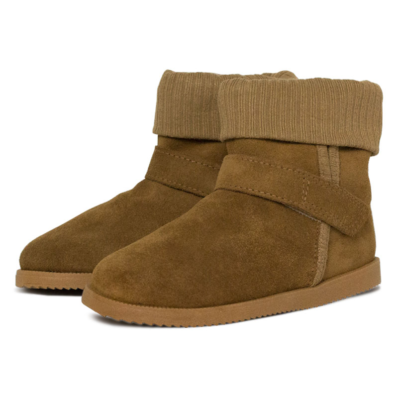 Perky moon boot kids camel 2