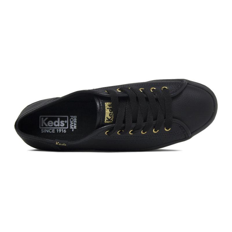 Keds plataform kick perf leather preto 1