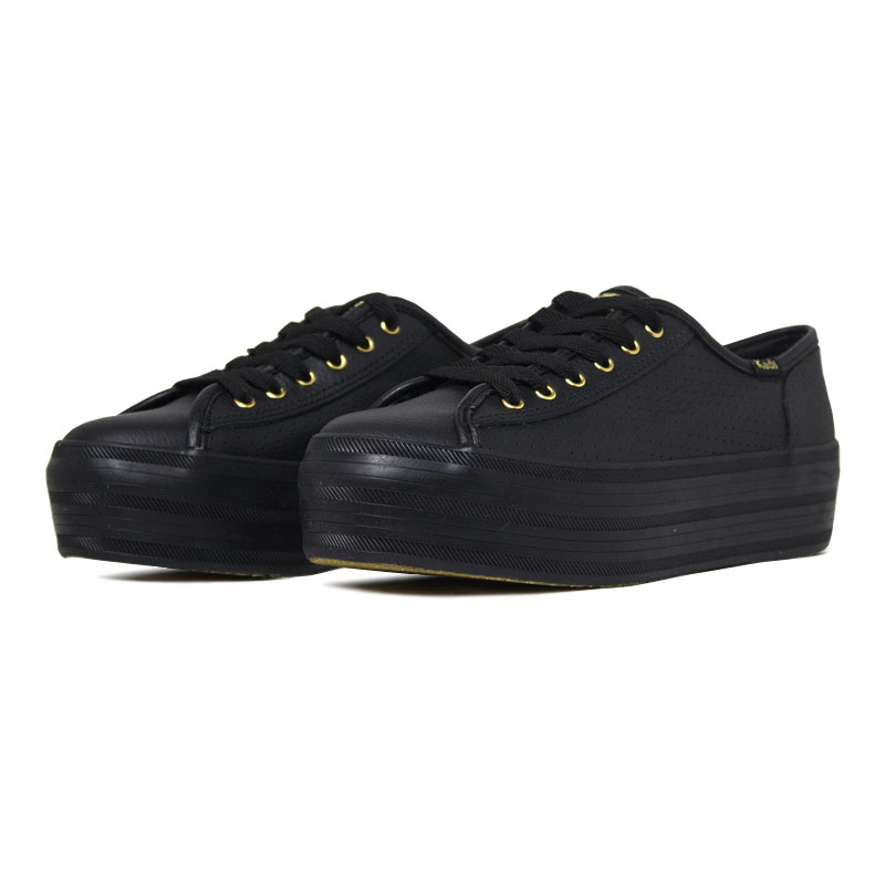 Keds plataform kick perf leather preto 2
