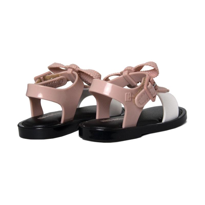 Mini melissa mar sandal rosa branco 1