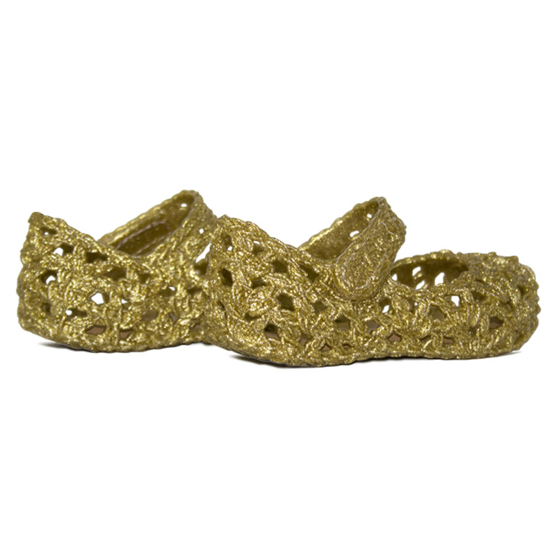 Mini melissa campana crochet dourada 1