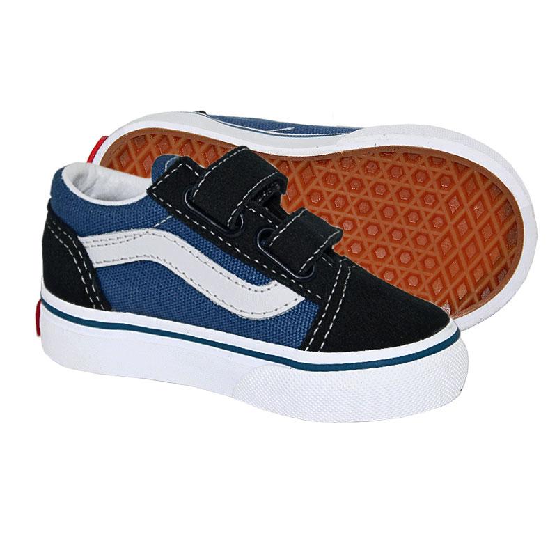 Tênis Vans Baby Old Skool Velcro Navy é