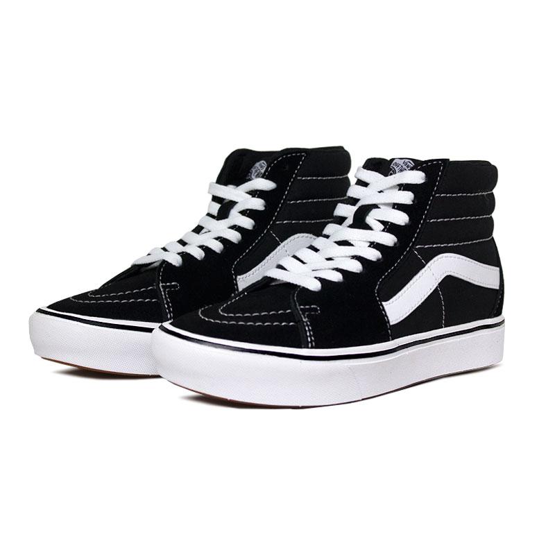 Tenis vans comfy cush sk8 hi black true white 1