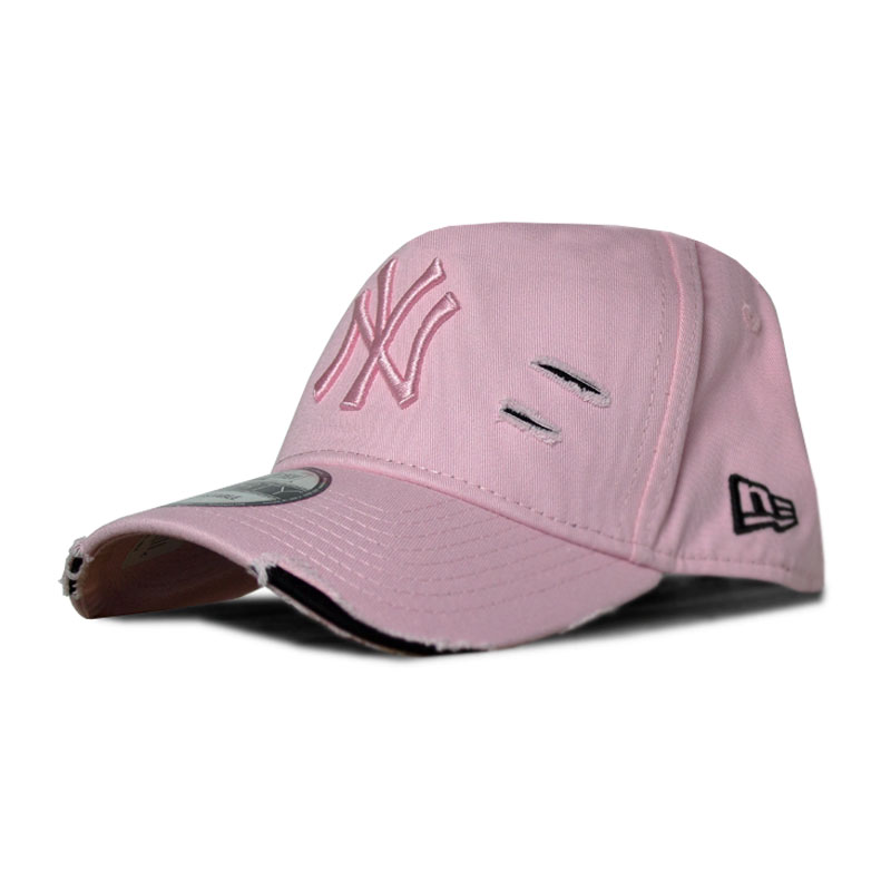 Bone new era sarja destroyed ny fivela rosa preto 1