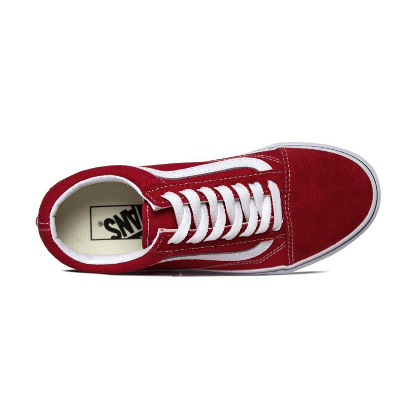 Tenis vans old skool racing red true white 1