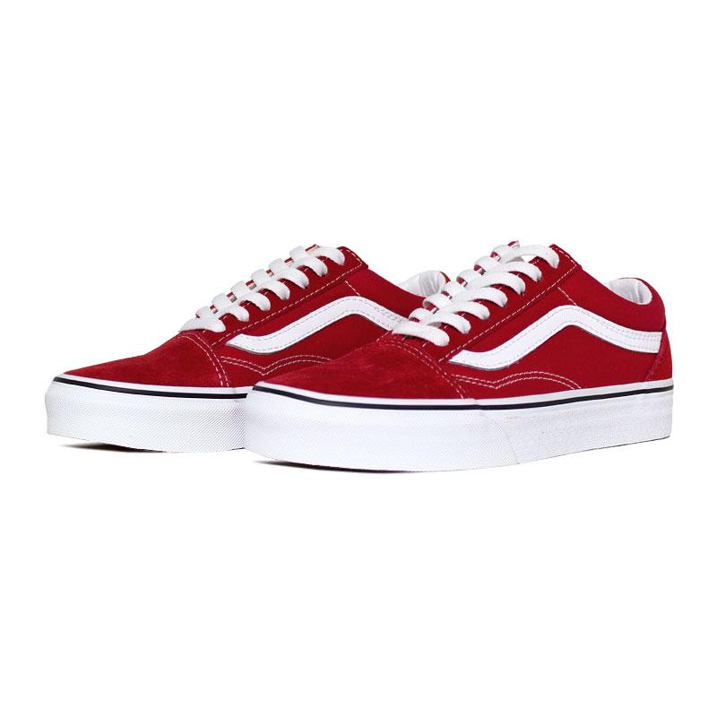 Tenis vans old skool racing red true white 3