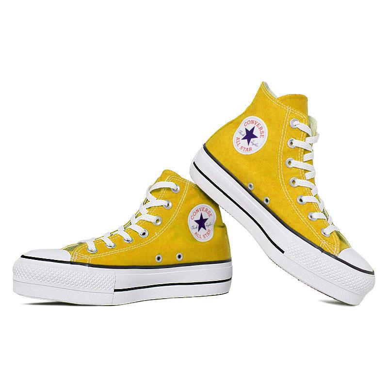 All star seasonal plataforma hi amarelo vivo 3